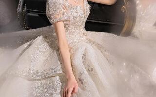 váy cưới cô dâu mập